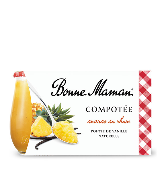 Ovocný dezert ananas rum