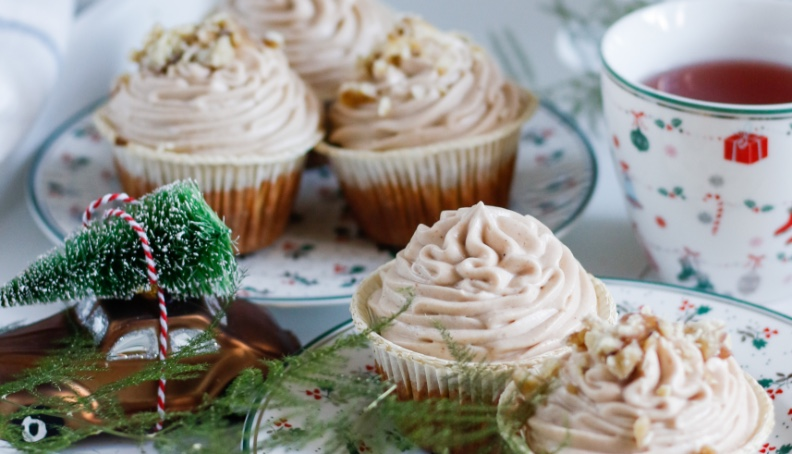 Dýňové cupcakes s kaštanovým krémem